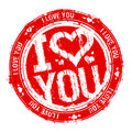 I love you stamp. Royalty Free Stock Images