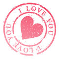 I love you stamp illustration Stock Photo