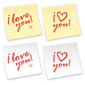 I love you sticker Royalty Free Stock Image