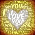 I love you text cloud