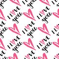 I love you text heart sharp vector seamless pattern background pink color card beautiful celebrate bright emoticon