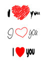 I love you texts Stock Image
