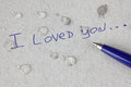 I loved you words on paper with tears Royalty Free Stock Photography