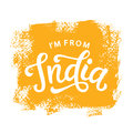 I`m From India T-shirt print design in retro style