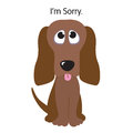 I'm Sorry Greeting Card Royalty Free Stock Photography