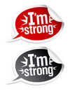 I`m strong stickers. Stock Images