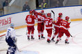 I. Nalimov (1) miss a goal and dissapointed Royalty Free Stock Photo