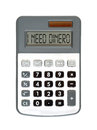 I need dinero message on the display money talks Royalty Free Stock Photo