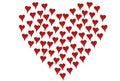 I piccoli cuori hanno modellato come grande cuore Fotografia Stock