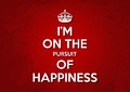 I am on the pursuit of happiness illustration a poster from united kingdom created during world war ii Stock Photo