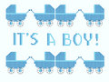 I's a boy cross stitch Royalty Free Stock Image