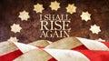 I shall rise again. From Latin Resurgam. Royalty Free Stock Photo