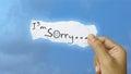 I am sorry Royalty Free Stock Photo