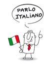I speak Italian Royalty Free Stock Photo