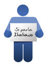 I speak italian sign illustration design over a white background Royalty Free Stock Image
