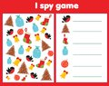I spy game for toddlers. Find and count objects. Counting educational children activity. Christmas and new year holidays theme Royalty Free Stock Photo