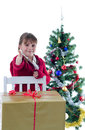 I've got great Xmas present Royalty Free Stock Images