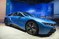 Iaa frankfurt sept bmw i plug in hybrid sportscar shown at the th internationale automobil ausstellung on september in Royalty Free Stock Image