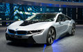 Iaa frankfurt sept bmw i plug in hybrid sportscar shown at the th internationale automobil ausstellung on september in Royalty Free Stock Images