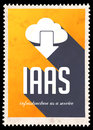 IAAS Concept on Yellow in Flat Design. Stock Photography