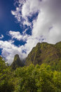 Iao Needle in Rain Forest Royalty Free Stock Photo