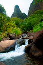 Iao Needle Stream Maui Hawaii Royalty Free Stock Photo