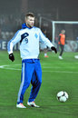 Iarmolenko warms-up Stock Photo