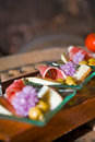 Iberian ham serrano with flowers Royalty Free Stock Photography