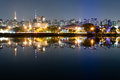 Ibirapuera park sao paulo night view of the city Stock Photography