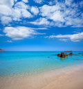 Ibiza aigues blanques aguas blancas beach at santa eulalia balearic islands of spain Stock Image