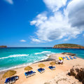 Ibiza cala conta comte beach in sant josep san jose at balearic islands spain Stock Image