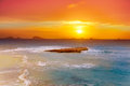 Ibiza Cala Conta Comte Compte sunset Royalty Free Stock Photos