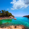 Ibiza cala mestella mastella in santa eulalia del rio at balearic islands Royalty Free Stock Photos