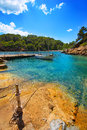 Ibiza cala mestella mastella in santa eularia des riu at balearic islands Stock Photo