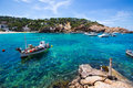 Ibiza cala vedella vadella in sant josep at balearics balearic islands of spain Royalty Free Stock Photos