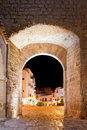 Ibiza castle fort door to Dalt Vila in Eivissa Royalty Free Stock Images