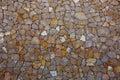Ibiza masonry wall detail of mediterranean stonewall
