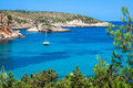 Ibiza punta de xarraca turquoise beach paradise in balearic isla islands Royalty Free Stock Photos