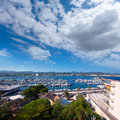 Ibiza san antonio abad sant antoni de portmany in balearic islands Royalty Free Stock Images