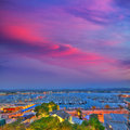 Ibiza san antonio abad sant antoni portmany sunset in balearic islands Royalty Free Stock Photography