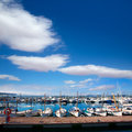Ibiza san antonio abad sant antonio de portmany marina at balearic islands Stock Photos