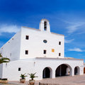 Ibiza Sant Josep de sa Talaia white church Stock Image