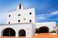 Ibiza Sant Josep de sa Talaia white church Stock Photo