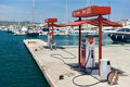 Cepsa Floating fuel station in Ibiza Royalty Free Stock Photo
