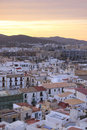 Ibiza town at sunset eivissa spain viewed from the old Royalty Free Stock Image