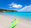 Ibiza with turquoise water in Balearic Royalty Free Stock Images