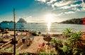 Ibiza view of cala d hort beach Royalty Free Stock Photos