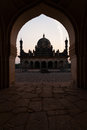 Ibrahim Roza Rauza Mausoleam Framed Arch Islamic Royalty Free Stock Photography
