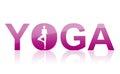 Ic ne de symbole de word de yoga Images stock