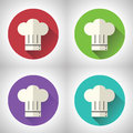 Ic ne en chef de nourriture de symbol toque cuisine de cuisinier dessus Image stock